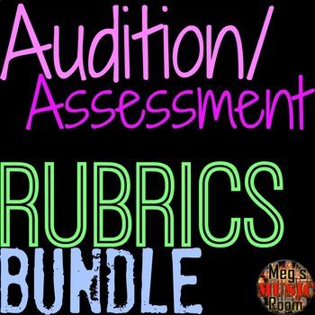 Audition/Assessment Rubric Bundle - SINGING, HIP-HOP, ACTING, CHOREO DANCE, RAP