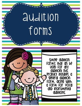 Audition Forms