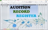 Audition Record Register