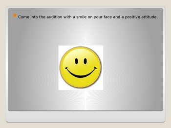 Audition Tips for Middle School Students Powerpoint