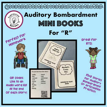 "Auditory Bombardment Mini Books for ""R"""