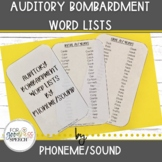 Auditory Bombardment Word Lists by Phoneme/Sound for Cycle