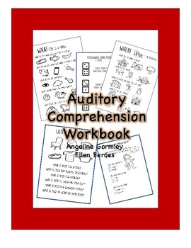 Auditory Comprehension Activity Workbook by TheraFun | TpT