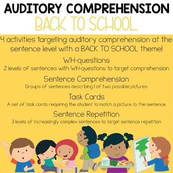 Auditory Comprehension: Back to School Edition