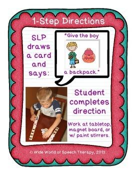 Auditory Comprehension Back to School Pack - Speech Therapy, Spanish Compatible