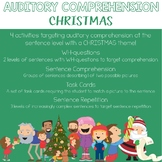 Auditory Comprehension: Christmas Edition