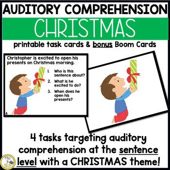 Auditory Comprehension: Christmas Edition
