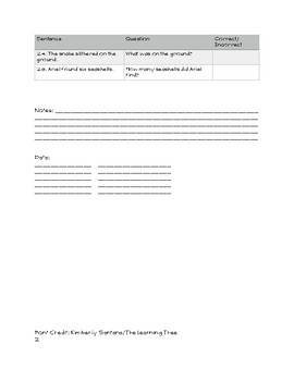 Pediatric Auditory Comprehension (Easy) - ELL, TBI, Language