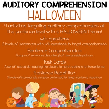 Auditory Comprehension: Halloween Edition