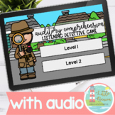 Auditory Comprehension | Listening Detective Boom Cards™