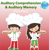 Auditory Comprehension Pizza Party - Speech Therapy