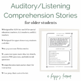 Auditory Comprehension Short Stories 4 Sentences
