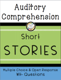 Auditory Comprehension Short Stories: Multiple Choice Wh-