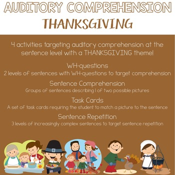 Auditory Comprehension: Thanksgiving Edition