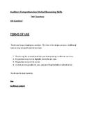 Auditory Comprehension Verbal Reasoning Skills