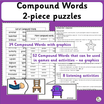 Compound Words: 2 piece puzzles (SASSOON)