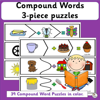 Compound Words: 3 piece puzzles (SASSOON)