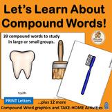 Compound Words for Kindergarten
