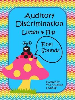Auditory Discrimination Final Sounds Flip Cards