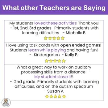Auditory Processing Task Cards for Preschool & Kindergarten