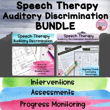 Auditory Discrimination and Minimal Pair BUNDLE {central a