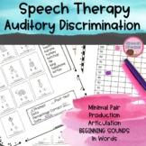 Articulation: Auditory Discrimination and Minimal Pair Progress Monitoring