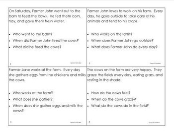 Auditory Farm- Auditory Memory Activities for Sentences, Riddles, and Stories