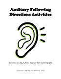 Auditory Following Directions Activities