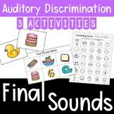 Auditory Training: Final Sounds Matching