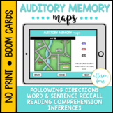 Auditory Memory BOOM Cards™️ Speech Therapy Distance Learning
