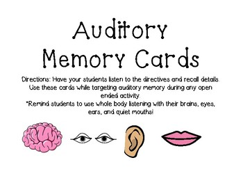 Auditory Memory Cards
