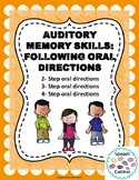 Auditory Memory: Following Oral Directions
