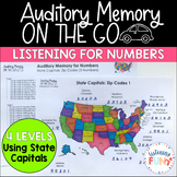 Auditory Memory: Numbers Using State Capitals