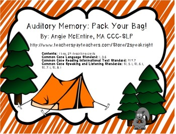 Auditory Memory: Pack Your Bag!