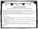 Auditory Memory - Strategies, Practice, Activities!