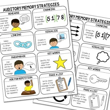Auditory Memory Strategies Visual Support