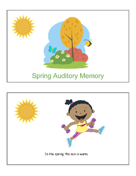 Auditory Memory sentences for spring