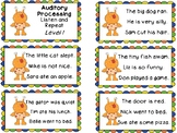 Auditory Processing Cards - Listen and Repeat - Level 1