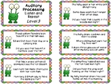 Auditory Processing Cards - Listen and Repeat - Level 3