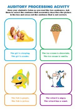 Auditory Processing Cards set 1