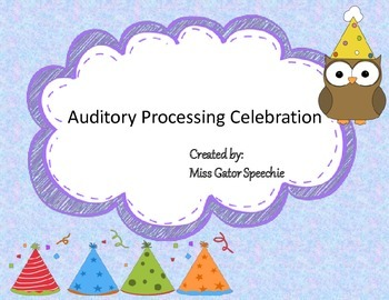 Auditory Processing Celebration