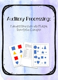 Auditory Processing Following Directions with Multiple Des