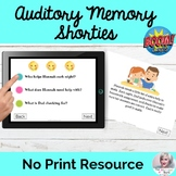Auditory Processing Memory Wh- Questions Boom Cards | No P