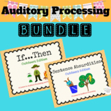 Auditory Processing Outdoors Edition Bundle NO PRINT Teletherapy Language