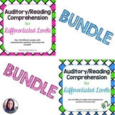 Auditory/Reading Comprehension for Differentiated Levels BUNDLE