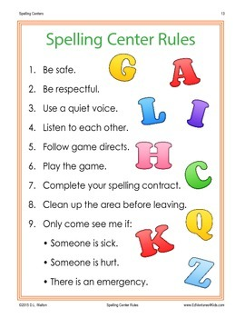 Auditory Spelling Centers