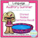 Auditory Summer: Auditory Memory Activities