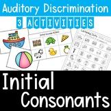 Auditory Training: Initial Consonants Matching