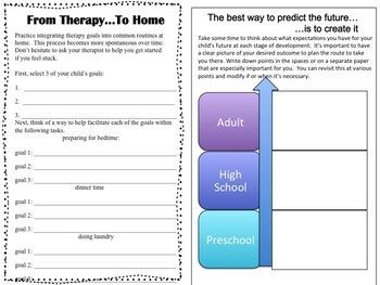 Auditory Verbal Parent Interactive Notebook