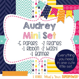 Digital Paper and Frame Mini Set Audrey